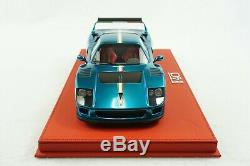 1/18 Bbr Ferrari F40 LM Chrome Blue/italy Deluxe Red Leather Limited 2 Pieces