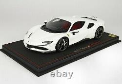1/18 Ferrari SF90 Stradale Avus White with Display Ltd 18 Pieces BBR P18180D1