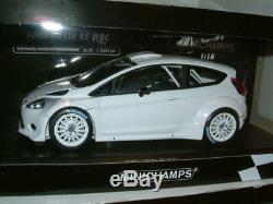 1/18 Minichamps Ford Fiesta Rs Wrc `plain White`. Limited 1002 Pieces. #129
