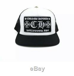 100% AUTHENTIC Chrome Hearts Hollywood Trucker Hat Black/White Limited Edition