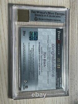 2006 Tom Brady Topps Paradigm Jersey Patch Autograph PSA BGS 8.5 Auto 10 #/99