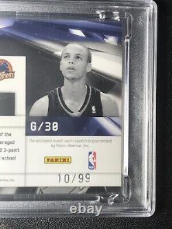 2009 Limited STEPHEN CURRY RC /99 Jumbo Jersey Patch Relic ROOKIE PSA 8+ POP 4