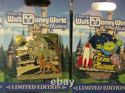 2017 Walt Disney World Piece of History 9 Pin Set Limited Edition Hard to Find