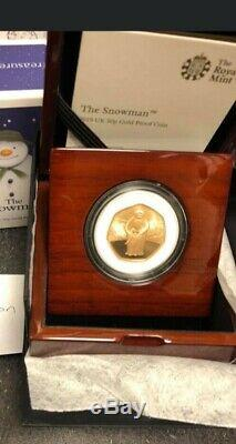 2019 The Snowman 50p Gold Proof Coin Strictly Ltd Mintage 600 beautiful piece