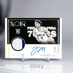 2020-21 NOIR Tyrese Maxey Rookie Patch 2-COLOR Auto /99 ON CARD RPA Sixers