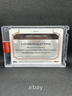 2020 Topps Dynasty Formula 1 Lewis Hamilton Patch Auto 04/10