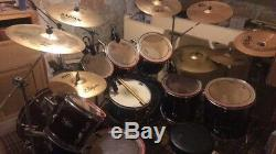 9 piece drum kit wine red (shells only) with Tama LTD Edition snare