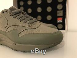 Air max 1 Patch Khaki Green Size 7.5Uk QS DS Limited Edition Velcro Pack