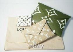 Auth Louis Vuitton Three Piece Pochette Giant Monogram Kirigami Limited Edition