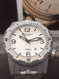 Benarus Sea Devil Limited Edition 50 Piece 1000m Diver 45mm White Full Lume Dial