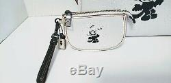 Coach 1941 X Felix Cat laughing LIMITED ED. Piece Rogue Chalk withPOUCH 58436 NEW
