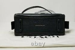 Coach Varsity Patch Rogue Black Pebble Leather Satchel Bag 57231 Limited Edition