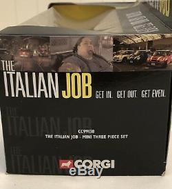 Corgi The Italian Job 3-piece Mini Cooper Limited Ed. Collectible Set RARE