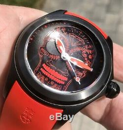 Corum Bubble Mexican Red Skull PVD Limited Edition 88 Pieces Swiss Automatic