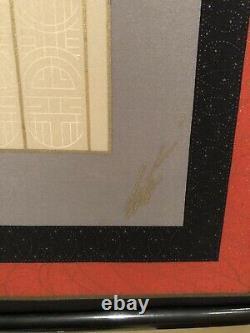 Erte Framed Silk Scarf Theatre Loge or L'Opera Beautiful Art Deco Piece Rare
