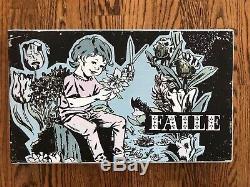 FAILE Original Piece /Kid With Flowers On Wood