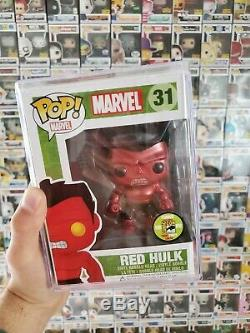Funko POP! SDCC 2013 Metallic Red Hulk #31 Limited Edition 480 Pieces