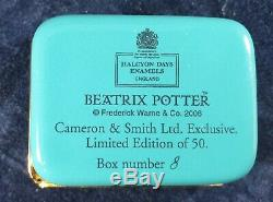 Halcyon Days Beatrix Potter Very Rare Box Limited Edition 8/50 Pieces