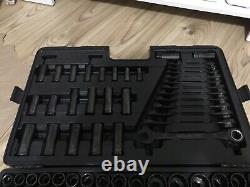 Halfords Advanced Black limited edition 200 piece socket set. Lightly Used