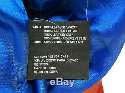 Jeff Hamilton NBA Patch Size 4XL Jacket Limited Edition Cotton Leather Trim Red