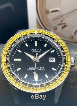 Jenny Caribbean 300 Yellow 50th Anniversary Re-Edition 500 Pieces 42mm 300m Dive