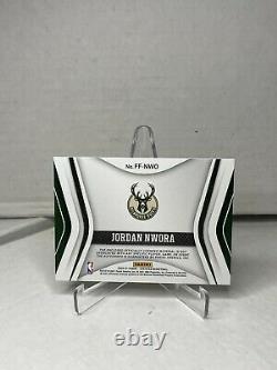 Jordan Nwora Certified Freshman Fabric Gold RPA #7/10 Rookie Auto Patch 2020-21