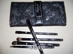 KAT VON D Limited Edition 5 Piece Vegan BRUSH SET Vegan Leather Case NEW IN BOX