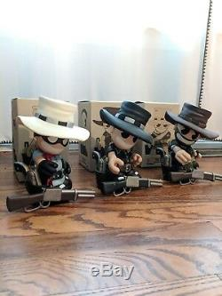 Kidrobot Mascot 7in Huck Gee The Good The Bad The Ugly set (Ltd Ed 800 pieces)