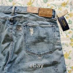 Men Polo Ralph Lauren Distressed Patch Slim Fit Camo Jeans Ltd Edition
