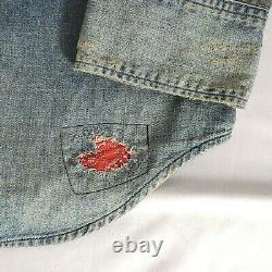 Mens Polo Ralph Lauren Western Patchwork Denim Button Down S Shirt Ltd Edition