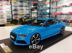 Motorhelix 1/18 Audi licensed RS7 Baby Blue no BBR MR makeup LAST PIECE