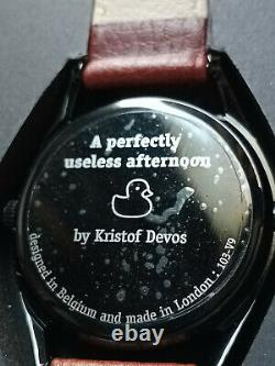 Mr Jones Watches A Perfectly Useless Afternoon Piece Unique in black RARE MJW
