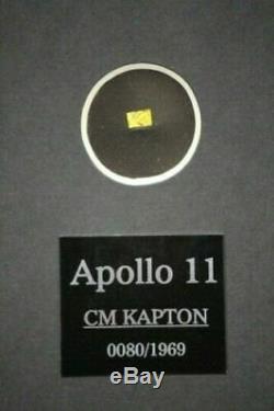 NASA Historic Apollo 11 Framed Print w Actual Piece Of Space Flown Kapton Relic