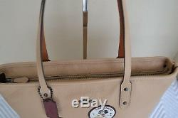NWT COACH Disney Minnie Mouse Patch City Zip Tote Beechwood Leather Bag & Wallet