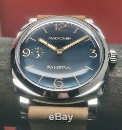 Panerai Radiomir 1940 Pam 690 47mm Blue Dial 500 Pieces Swiss Pam00690 Complete
