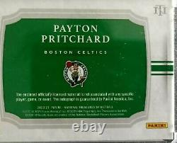 Payton Pritchard 2020-21 National Treasures RPA Rookie Patch Auto 36/75