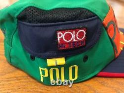 Polo Ralph Lauren Hi Tech Side Pocket Limited Edition Flag 5 Panel S/m Patch Hat