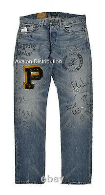 Polo Ralph Lauren Limited Edition Sullivan P Patch Varsity Graffiti Jeans New