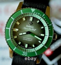RARE Zodiac Super Sea Wolf Watch Sold Out Limited Edition to 82 Pieces ZO9278GR