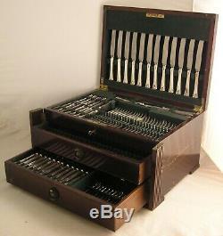 ROYAL PRINCE Design GARRARD & CO LTD Silver Service 127 Piece Canteen of Cutlery