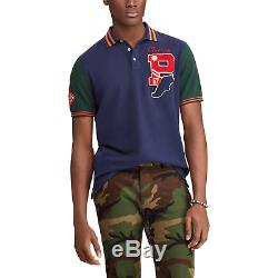 Ralph Lauren Polo Limited Edition P Wing Bulldog Varsity Patch Shirt New