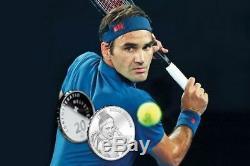 Rare Roger FEDERER Silbermünze Silver Coin Pièce argent Limited edition 2020