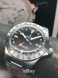 Rare Steinhart Ocean Vintage GMT Limited Edition 199 Pieces Swiss Automatic 42mm
