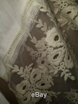 Spell and the Gypsy Collective Prairie size 12 White Blouse With Lace Sleeves