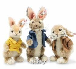 Steiff Beatrix Potter Peter Rabbit 3 Piece Set Limited Edition EAN 355622
