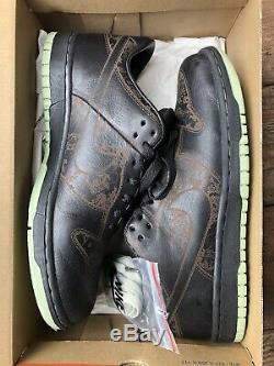 VNDS 2005 Nike Dunk low LASER 1 piece US size 9.5 leather sneakers vtg OG green