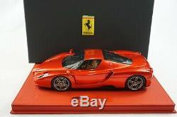 1/18 Bbr Ferrari Enzo F1 2007 Rouge Métallisé Rouge De Luxe En Cuir Limted 10 Mr Piece