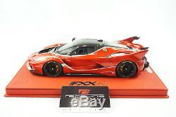 1/18 Bbr Ferrari Fxxk Enzo Rouge / Carbone Base Deluxe En Cuir Rouge Limitée 10 Pièces Mr
