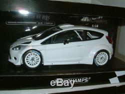1/18 Minichamps Ford Fiesta Wrc Rs `white` Plaine. Limitée 1002 Pièces. # 129