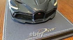 1/18 Mr Bugatti Divo Plein Carbone Bleu Limité 99 Pièces